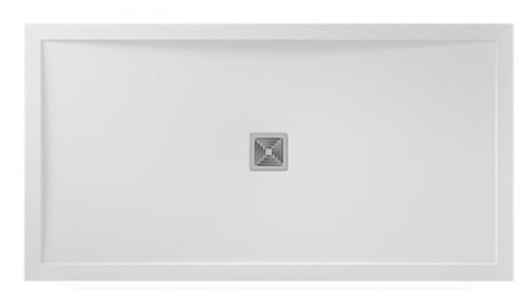Aquadart Aqualavo 1100 x 900mm Gloss White Rectangle Shower Tray