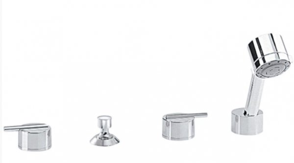 Sottini Mazaro 4 Hole Bath Shower Mixer Without Spout