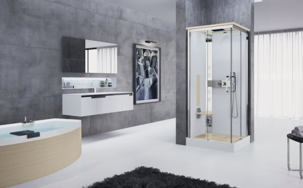 Novellini Nexis A100x80 Thermostatic Hydro Sliding Door Shower Enclosure
