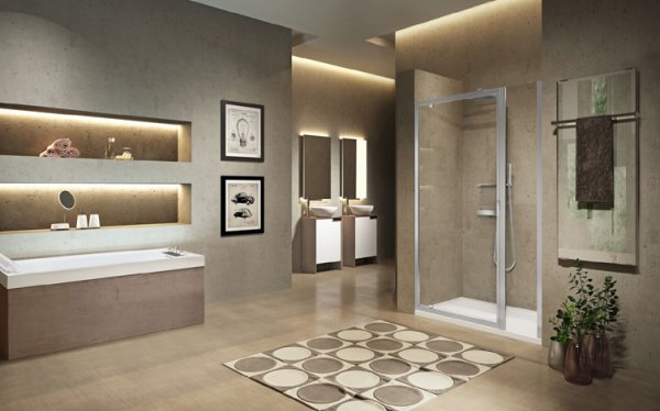 Novellini Lunes 2.0 G+F Pivot and Inline Shower Enclosure