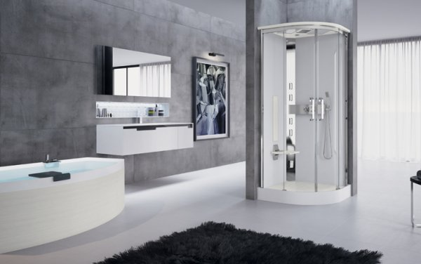 Novellini Nexis R90 Thermostatic Hammam Sliding Door Shower Enclosure