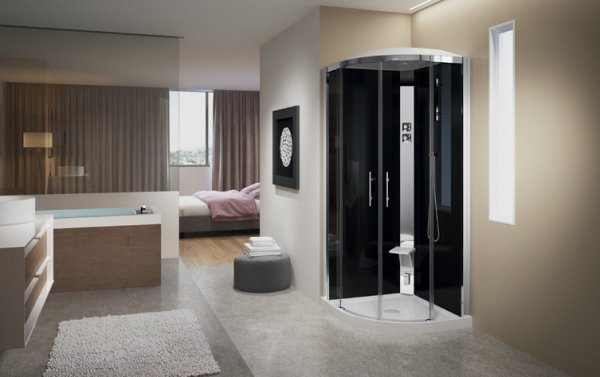 Novellini Crystal R90 Thermostatic Shower Enclosure