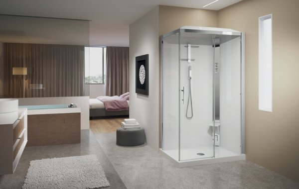 Novellini Crystal 2P120x80 Thermostatic Sliding Door Shower Enclosure