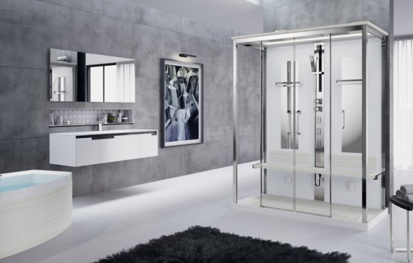 Novellini Nexis Dual Thermostatic Sliding Door Shower Enclosure (Centre)