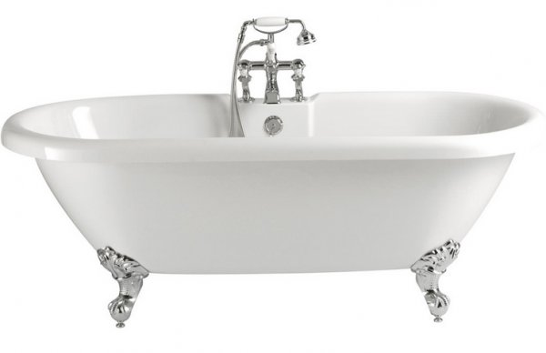 Heritage Baby Oban Freestanding Acrylic Double Ended Roll Top Bath
