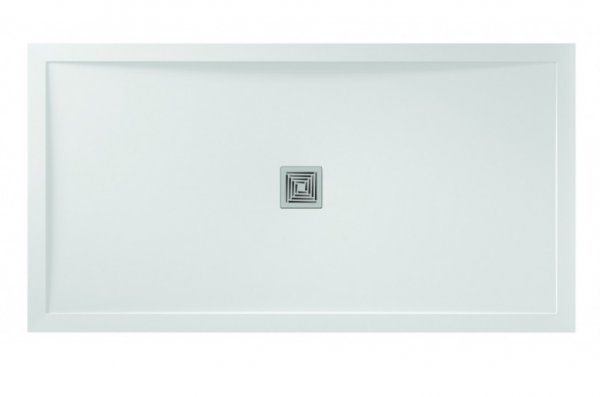 Aquadart Aqualavo 1700 x 760mm White Slate Effect Rectangle Shower Tray
