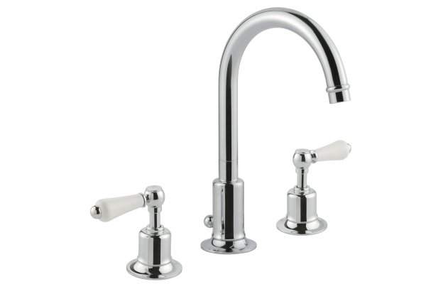 JTP Grosvenor Lever Chrome 3 Hole Basin Mixer