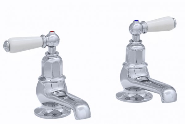 Perrin & Rowe Bath Pillar Taps with Lever Handles (3455)