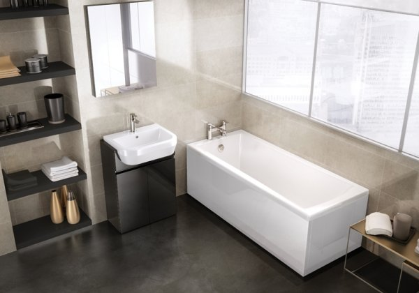 Britton Cleargreen Sustain 1700 x 700mm Single Ended Square Bath