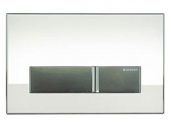 Geberit Sigma 40 White Glass Dual Flush Plate