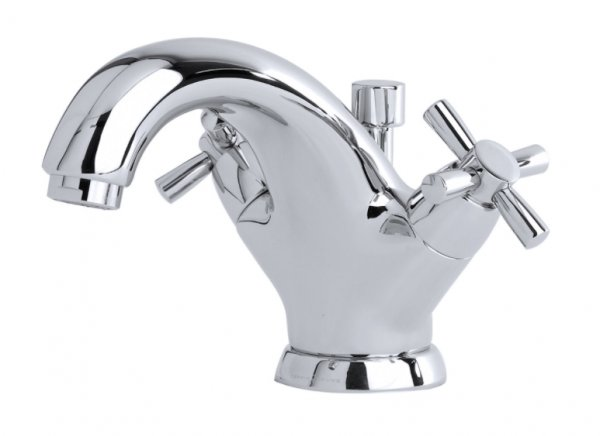 Perrin & Rowe Monobloc Basin Mixer with Crosshead Handles