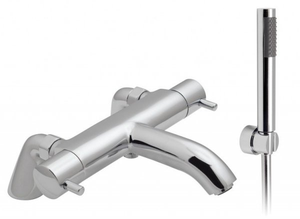 Vado Celcius 2 Hole Thermostatic Bath Shower Mixer with Kit (Stock Clearance)