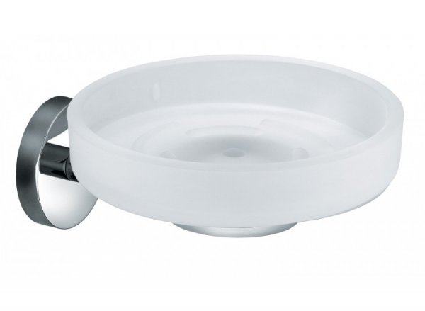 Vado Eclipse Frosted Glass Soap Dish and Holder