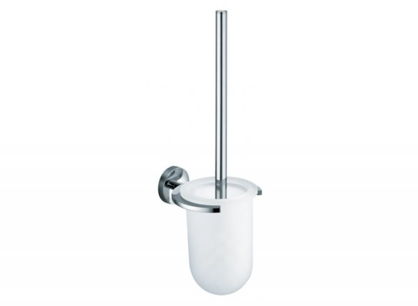 Vado Eclipse Toilet Brush and Frosted Glass Holder