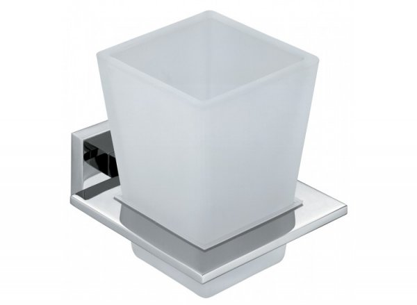 Vado Level Frosted Glass Tumbler and Holder