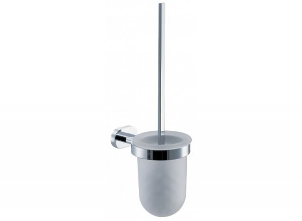 Vado Life Toilet Brush and Frosted Glass Holder