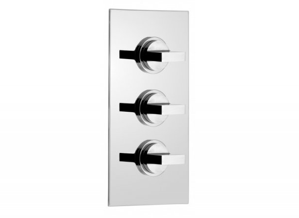 Vado Notion Concealed 2 Outlet 3 Handle Thermostatic Shower Valve