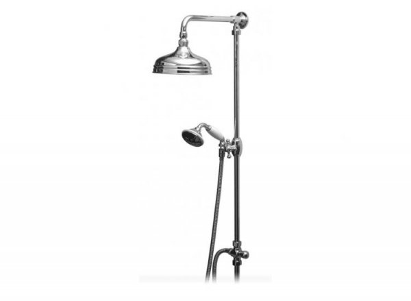 Vado Rigid Riser with 200mm Fixed Shower Head and Diverter