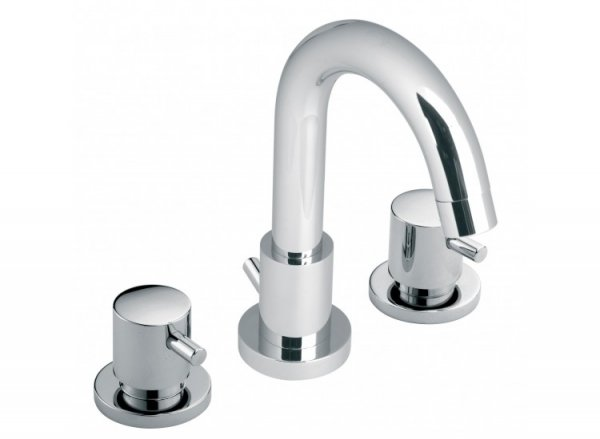 Vado Zoo 3 Hole Basin Mixer with Pop-up Waste