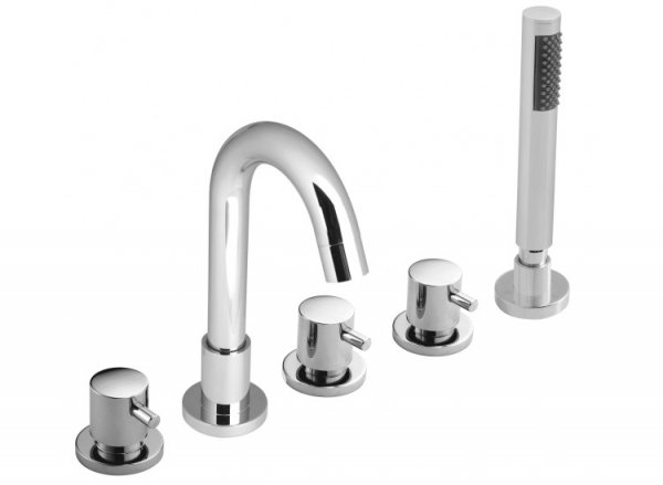 Vado Zoo 5 Hole Bath Shower Mixer