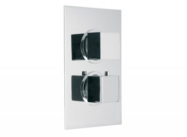 Vado Te Concealed 3 Outlet, 2 Handle Thermostatic Shower Valve