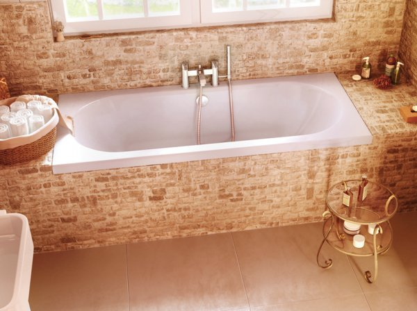 Britton Cleargreen Verde 1700 x 750mm Double Ended Round Bath