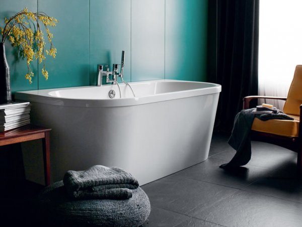 Britton Cleargreen Saturn 1700 x 750mm Freestanding Back to Wall Bath