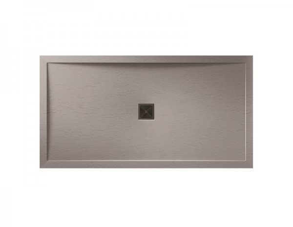 Aquadart Aqualavo 1700 x 900 Grey Slate Effect Rectangle Shower Tray