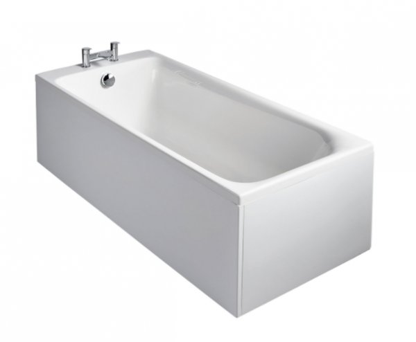 Sottini Turano Idealform 170 x 75cm Rectangular Bath with Filler Waste
