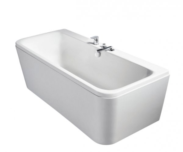 Sottini Turano D Shaped Idealform 180x80cm Double Ended Bath and Panel