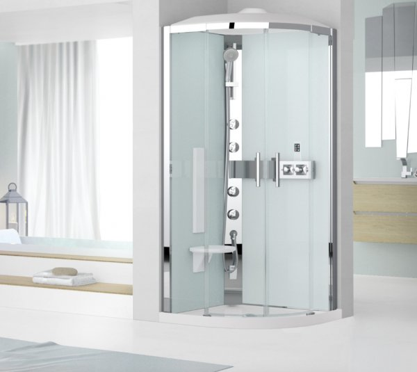 Novellini Glax R90 Thermostatic Quadrant Shower Enclosure