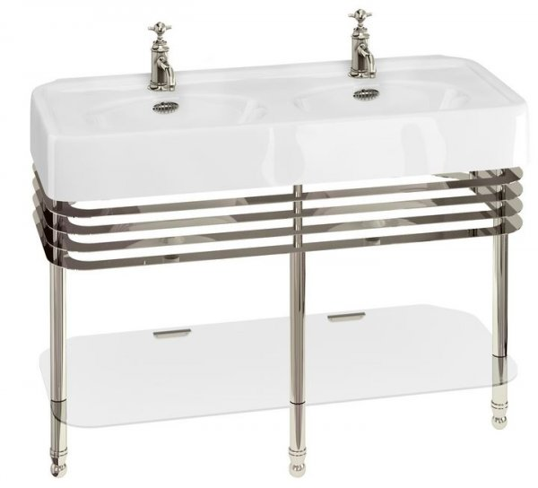 Arcade 121cm Double Basin with Wash Stand