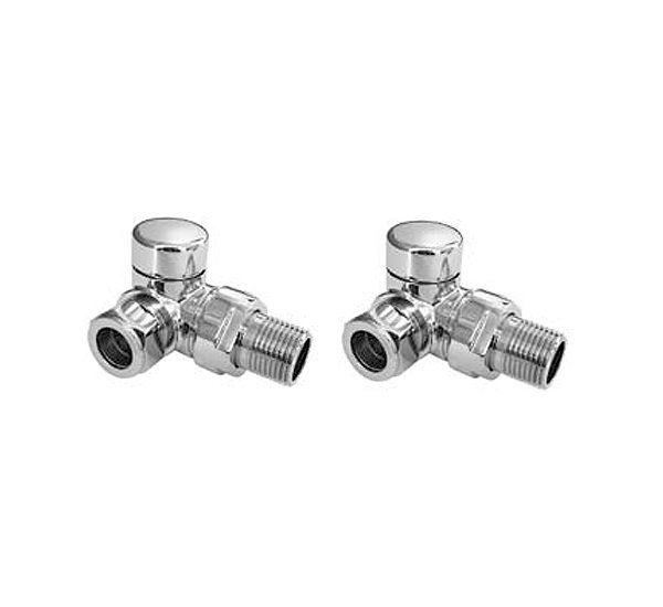 Essential 15mm Chrome Corner Angled Valve (Pair)