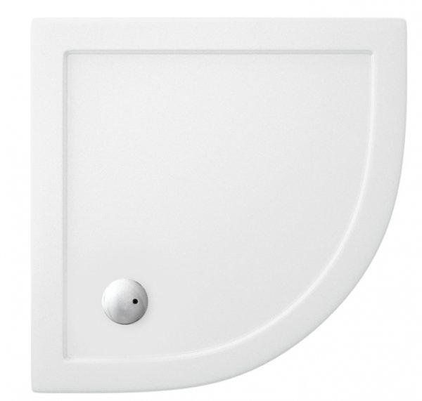 Zamori 800 x 800mm White Quadrant Shower Tray