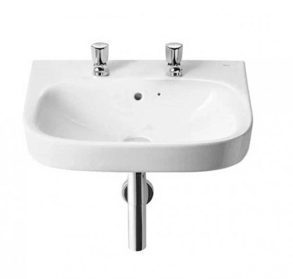 Roca Debba 550mm Basin - 2 Tap Hole