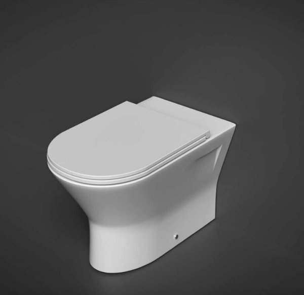 RAK Resort 45cm Extended Height Back To Wall Pan With Sandwich Soft Close Seat (Urea)