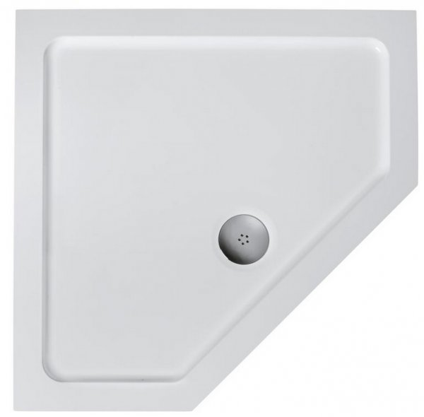 Ideal Standard Simplicity Pentagon Flat Top 900mm Low Profile Shower Tray