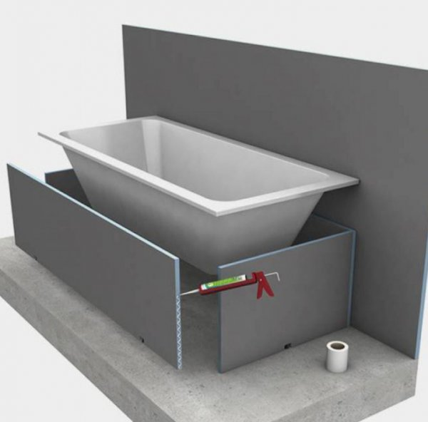 Wedi 76 x 60cm Bath End Panel