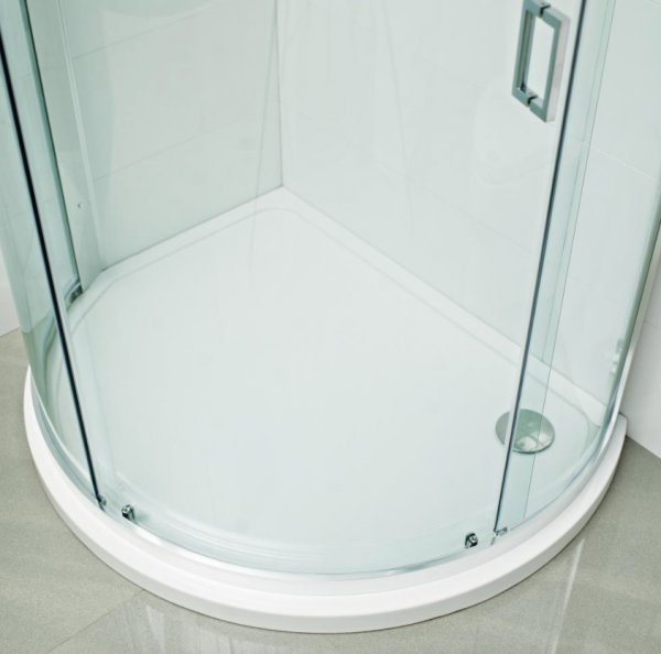 Roman Bow Fronted Offset Quadrant Shower Tray