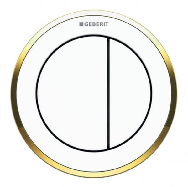 Geberit Type 10 Gold/White Dual Flush, For Furniture