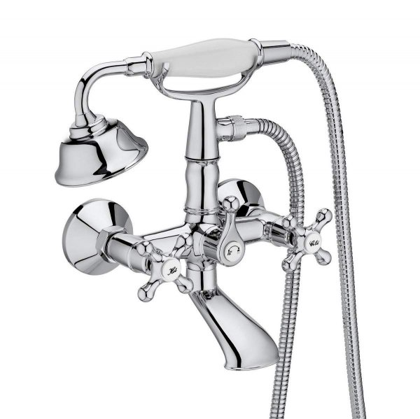 Roca Carmen Twin Lever Wall Mounted Bath-Shower Mixer