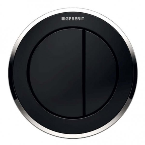 Geberit Type 10 Gloss Chrome/Black Dual Flush, For Furniture