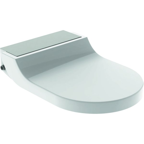Geberit AquaClean Tuma Comfort Toilet Seat Enhancement - Stainless Steel Brushed
