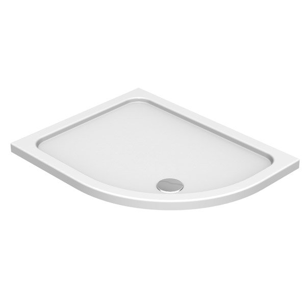 900 x 800mm Kudos Kstone Offset Quadrant Shower Tray