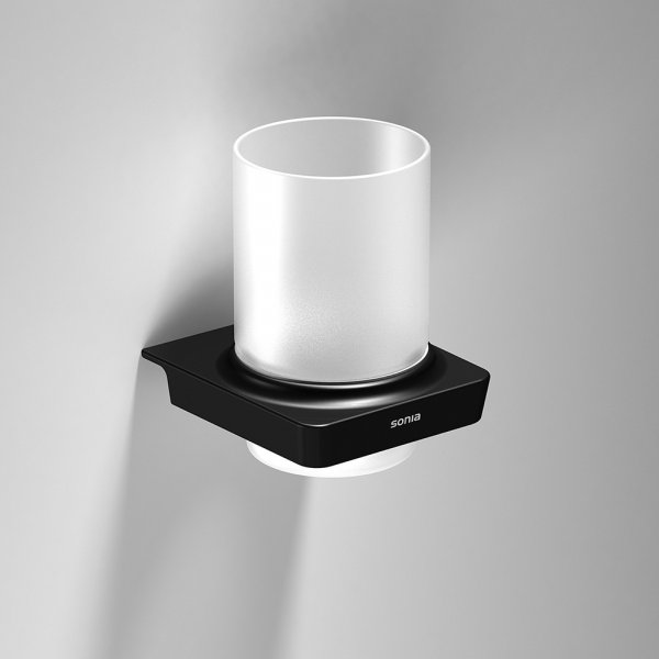 Bathroom Origins S6 Black Tumbler Holder