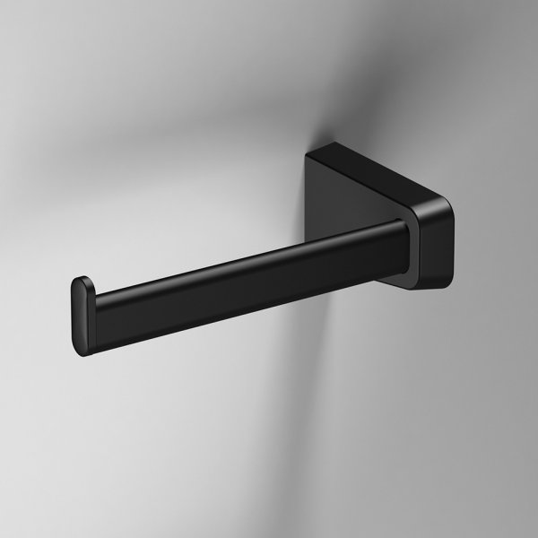 Bathroom Origins S6 Black Left Hand Open Toilet Roll Holder