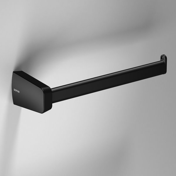 Bathroom Origins S6 Black Right Hand Open Towel Bar