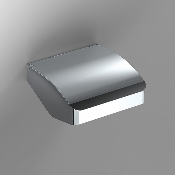 Bathroom Origins S Cube Chrome Toilet Roll Holder With Flap