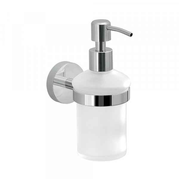 Bathroom Origins Eros Chrome Glass Soap Dispenser