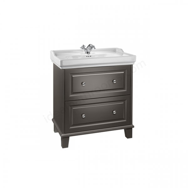 Roca Carmen 800mm Anthracite Satin Vanity Unit And 3 Tap Hole Basin